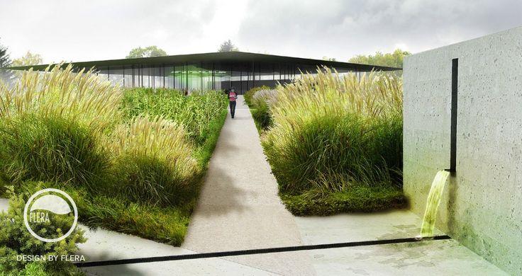 Vodní dům, studie zahrady | Atelier Flera