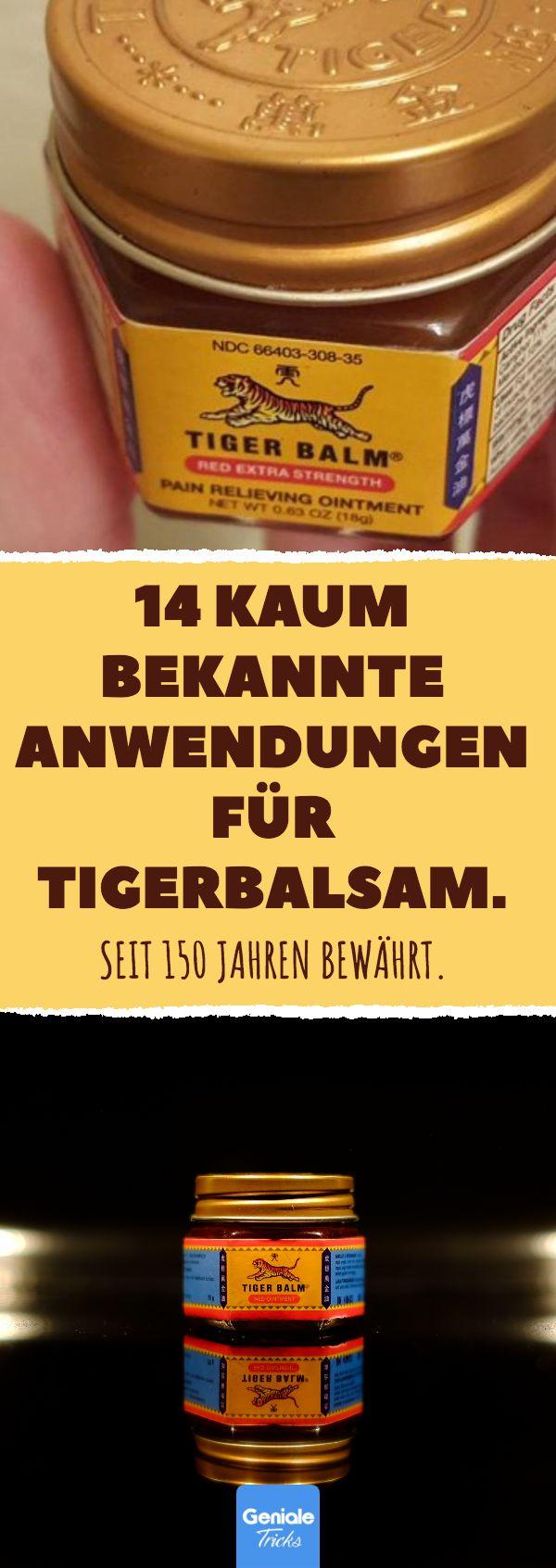 14 kaum bekannte Anwendungen für Tigerbalsam. #tigerbalsam #tiger #balm #mücke… Geniale Tricks