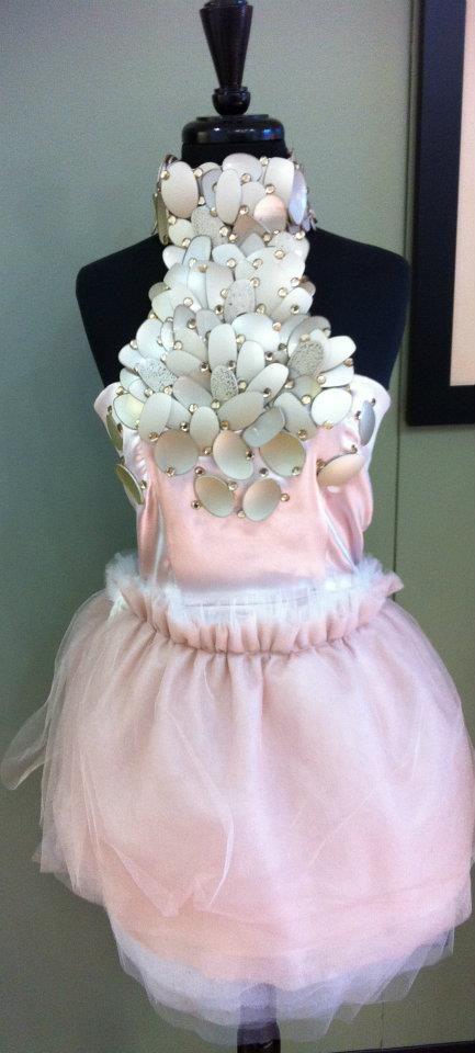Recycled Eyewear Dress (looks like plastic spoons!)