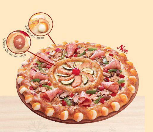 Pizza Hut Singapore's 'Double Sensation' Pie Is the Most Insane Pizza We've Ever Seen via Huffington Post