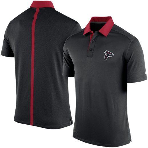 Nike atlanta falcons black elite coaches polo shirt for Soccer coach polo shirt