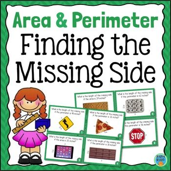 how to find missing side of area given