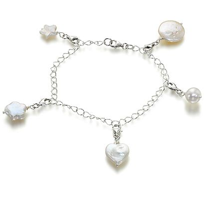 charm amuse white pearl and sterling silver charm bracelet more wwworchira