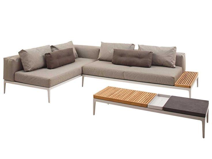Lounge sofa outdoor teak  Outdoor Loungesofa Grid mit Couchtisch Marmor Teak Alu von Gloster ...