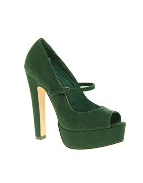 ASOS - PEPPER: Peeps Toe Platform, Green Shoes, Asos Peppers, Green Heels, Court Shoes, Jane Platform, Green Peppers, Asos Green, Platform Court