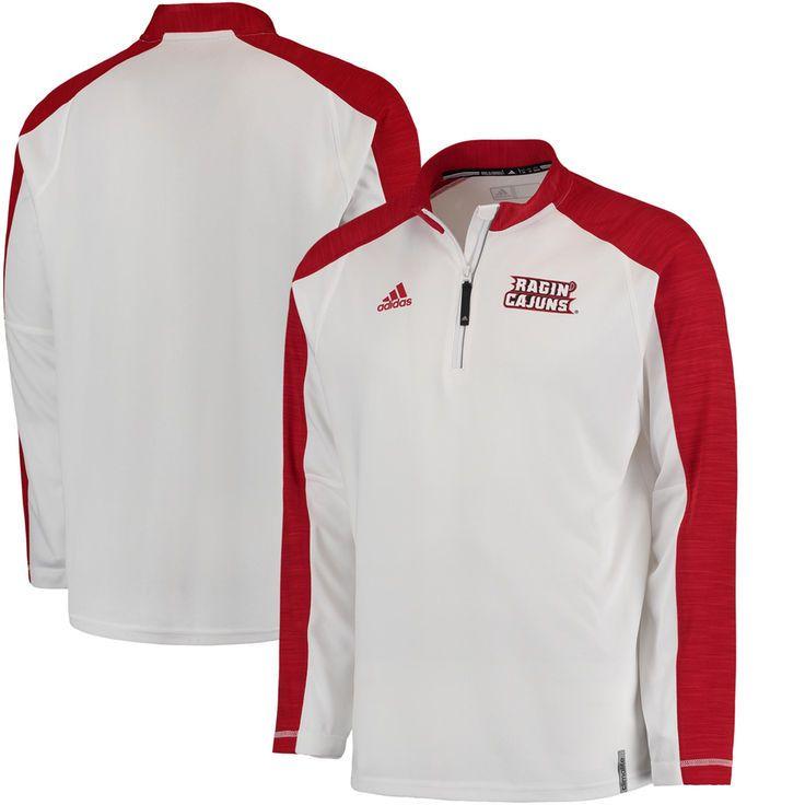 Louisiana-Lafayette Ragin Cajuns adidas 2016 Football Coaches climalite Quarter-Zip Jacket - White - $52.99