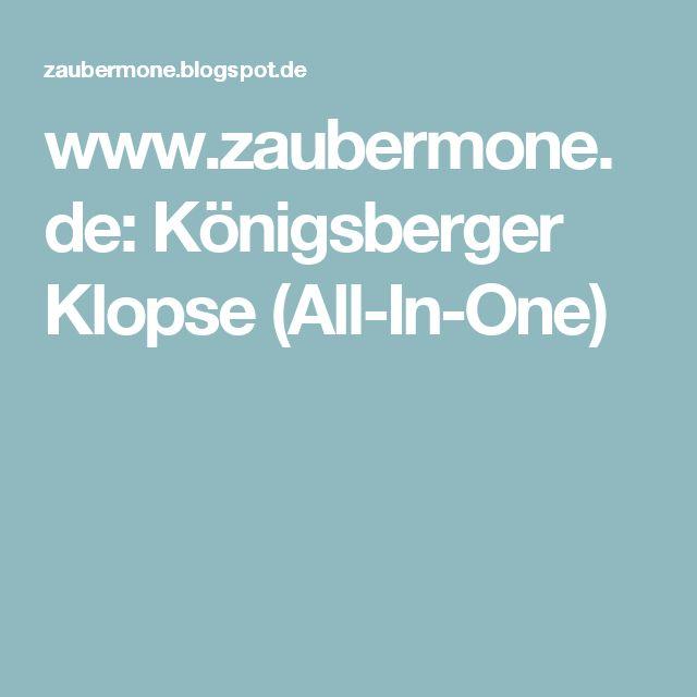 www.zaubermone.de: Königsberger Klopse (All-In-One)
