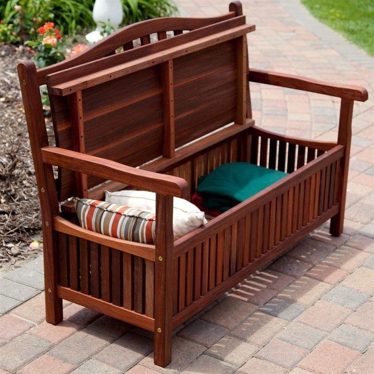 25 best ideas about wooden storage bench on pinterest for Outdoor storage ideas cheap