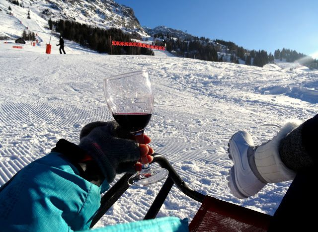 Vaujany, French Alps: Lunching and People Watching on the Piste at Les Airelles
