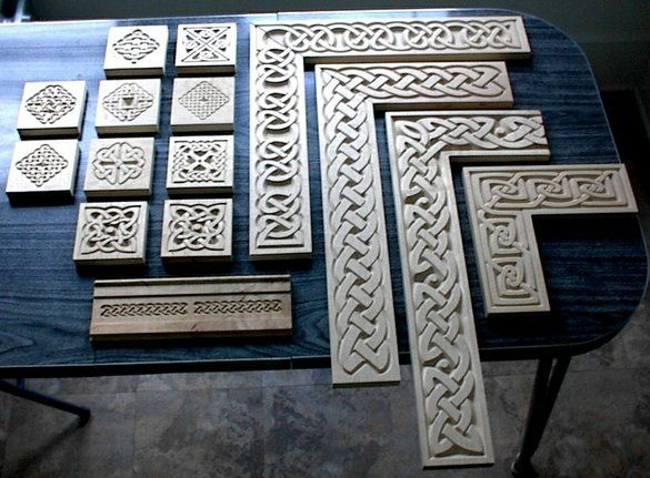 Carved Celtic Casement Moldings by Patrick Gallagher Celtic Art.... This is whatI want to incorporate into my pottery! Want to make rollers and stamps!
