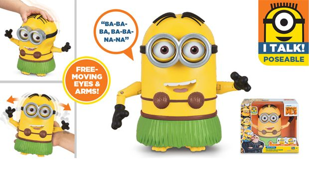 TALKING MINION ACTION FIGURE TALKING HULA DAVE