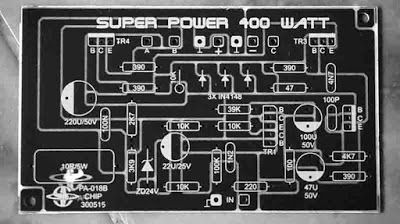 400W Power Amplifier PCB Layout