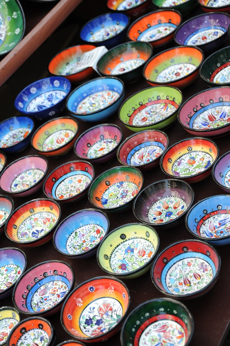 Colourful bowls in Kalkan