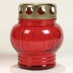 candela din sticla cu capac de la http://www.serplastsrl.ro, diferite culori in baxuri de 10 bucati