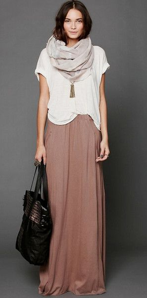 "winter maxi. Cool, and comfy, great Houston weight for our ""winter"""