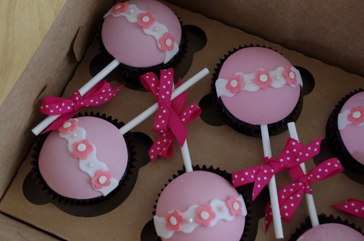 Baby Rattle Cupcakes | Baby shower | Pinterest