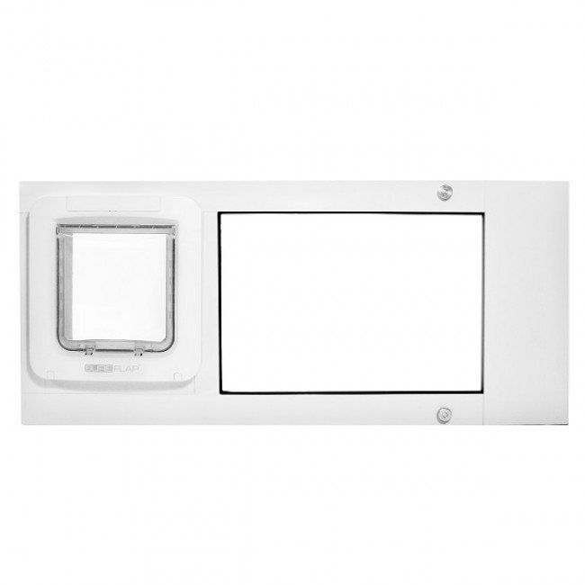 Patio Pacific Thermo Sash 2e Automatic/Electronic Cat U0026 Dog Door For Windows