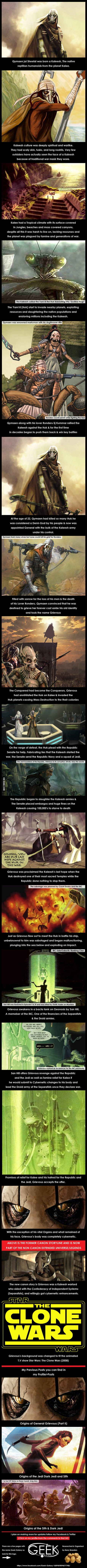 Origins of General Grievous (Part I) Star Wars History.