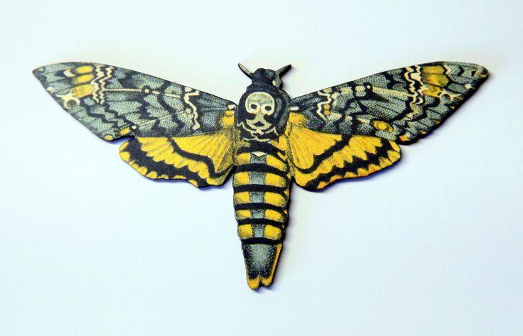 Death Head Moth skull needle minder - needleminder needle nanny pinminder needlecraft accessory by UnconventionalX on Etsy