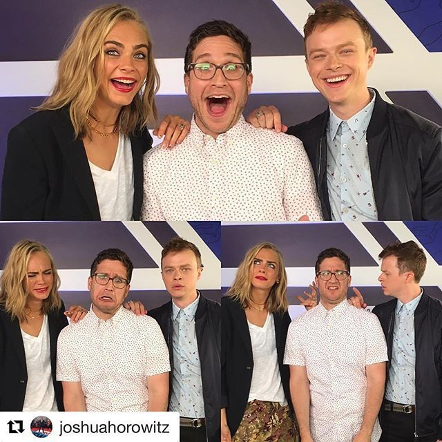 #Regram @joshuahorowitz ・・・ Happy/Sad/Confused. With Cara Delevingne & Dane DeHaan. #sdcc #valerian #caradelevingne #danedehaan