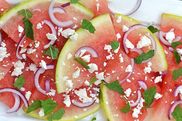 Super Healthy Sunday: Watermeloensalade met feta