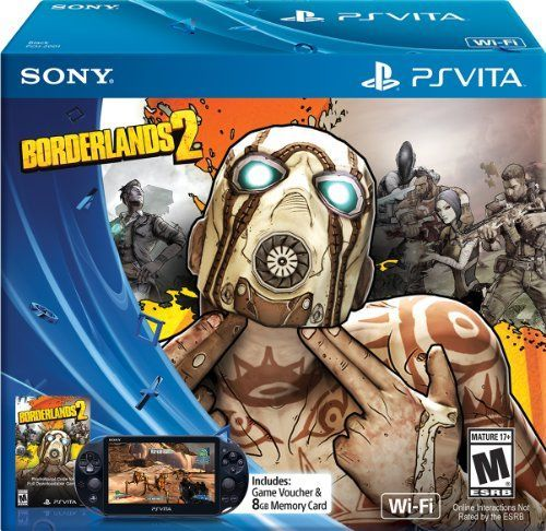 View larger  Borderlands 2 Limited Edition PlayStation Vita Bundle Include the greatness of PlayStation gaming in your mobile lifestyle with the all-in-one Borderlands 2 Limited Edition PlayStation Vita Bundle.  With Dual Analog Sticks for precision control and critically acclaimed co-op you can shoot and loot through the world of Pandora with your friends. This bundle also features the new PlayStation Vita system with the following enhancements:   Lighter and Thinner   View larger   Appr...