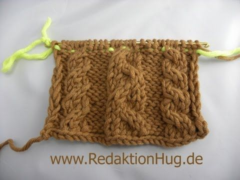 Knooking - Cable Knit (IN GERMAN - If you are familiar with knooking, you can watch this video to learn this stitch... The video is very good... Deb)