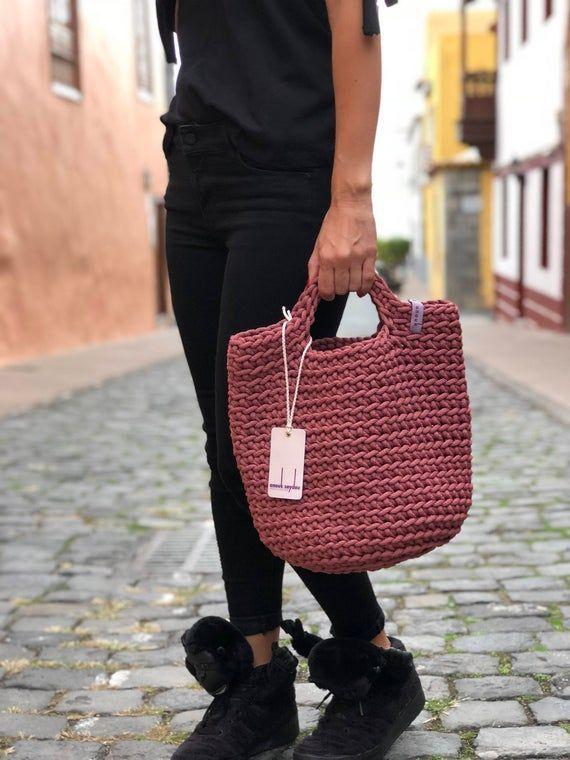 Photo of #Bag #Crochet #Dark #DUSTY #Shopping bag #Colour