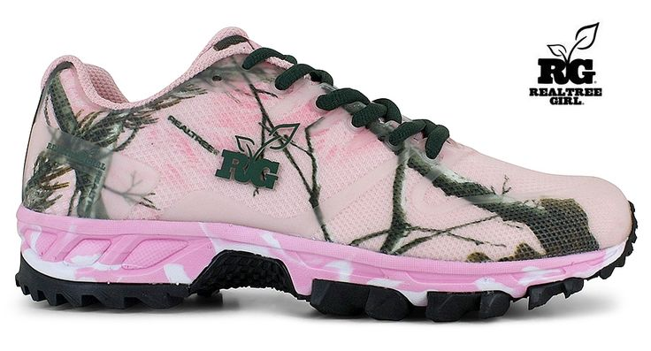 new realtree pink camo tennis tie shoes http bit