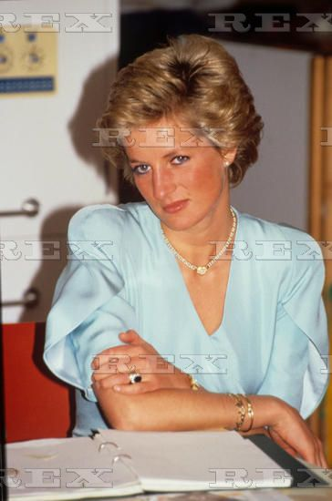 July 3, 1990 Princess Diana opening new police station at Fore Street, Edmonton, London,