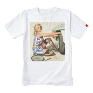 New Tire Pin-up Girl Zazzle HEART T-Shirt
