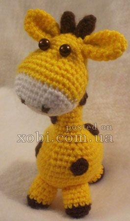 жирафик вязаный крючком