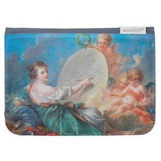 Allegory of painting Boucher Francois rococo lady Kindle Covers #allegory #painting #boucher #Paris #France #art #woman #girl #cherubs #angels #rococo #accessory #gifts #classic #customizable #home #decoration