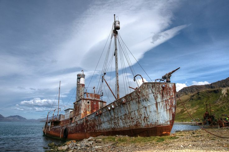 Abandoned Whaling Ship in Grytviken, South Georgia Island.