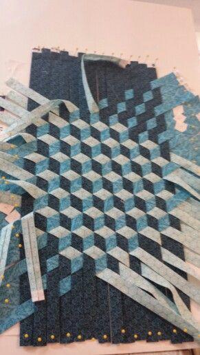 Strip weaving,  tumbling block, quilt stuff :)