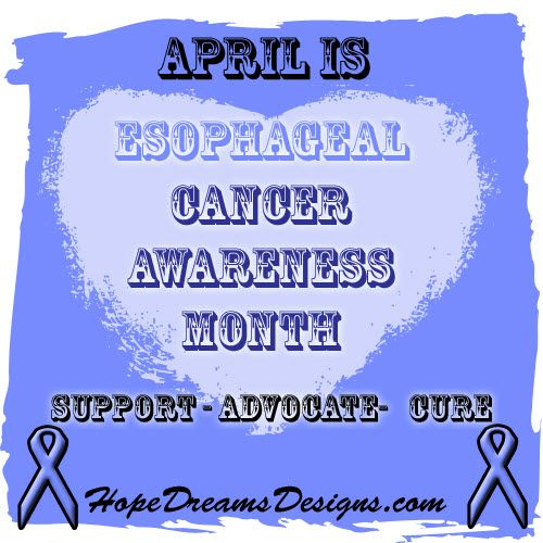 April is #esophagealcancer awareness month. Spread awareness for esophageal cancer with our line of awareness t-shirts, apparel and gifts with periwinkle ribbon to symbolize hope, cure and awareness by HopeDreamsDesigns.com #esophagealcancerawareness