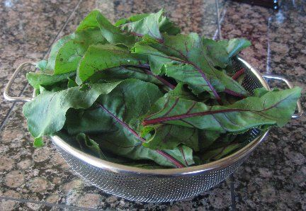 How To Cook Fresh Beet Greens  Tried this when I was trying to pack everything from a weekly shopping trip into the fridge - cut the beet tops off to save room, found this recipe and this ended up being my favorite part of lunch that day - simple, easy and delicious!