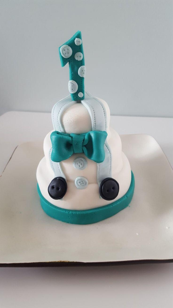 1st birthday little man cake