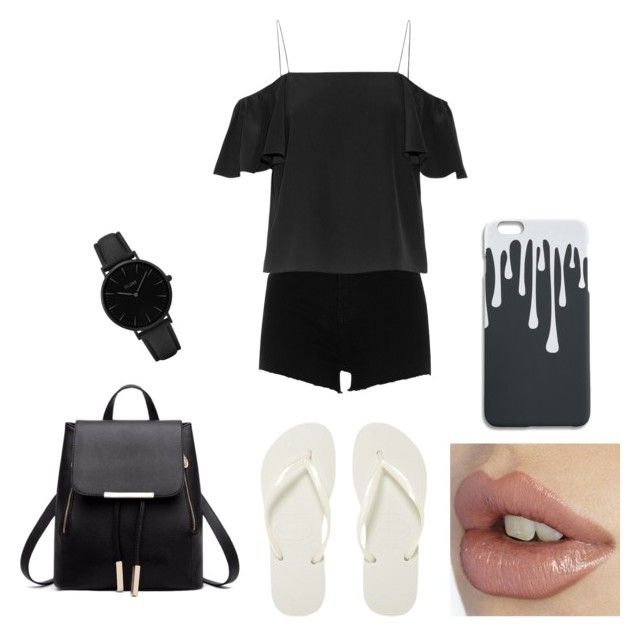 """""""Black and white"""" by dogs109 ❤ liked on Polyvore featuring River Island, Fendi, Havaianas and CLUSE"""