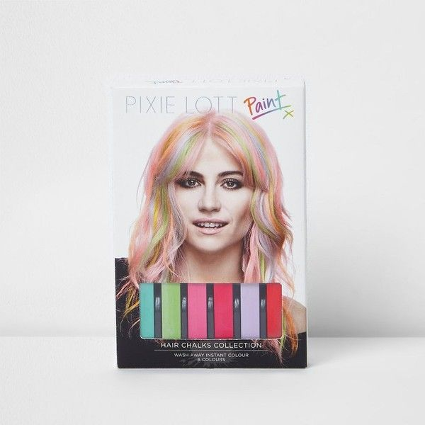 River Island Pixie Lott hair chalks collection ($6.51) ❤ liked on Polyvore featuring beauty products, haircare and hair color
