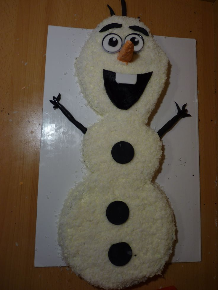 - Disney's Frozen Olaf Cake. Tutorial here:http://youtu.be/Sn7VCDEeHWY