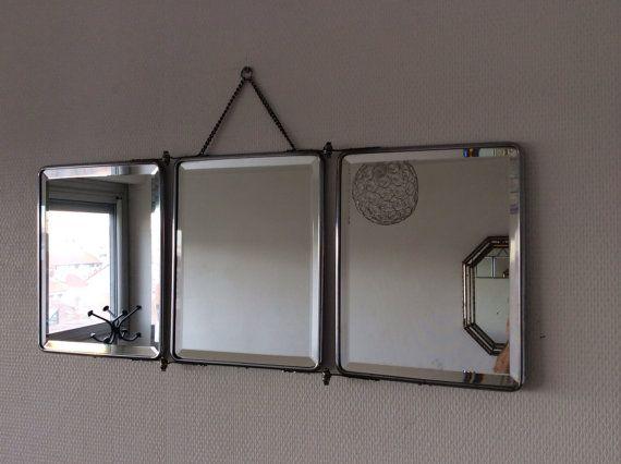 17 meilleures images propos de miroirs vintage sur for Grand miroir triptyque