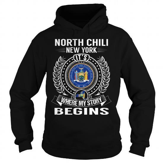 I Love North Chili, New York Its Where My Story Begins T-Shirt