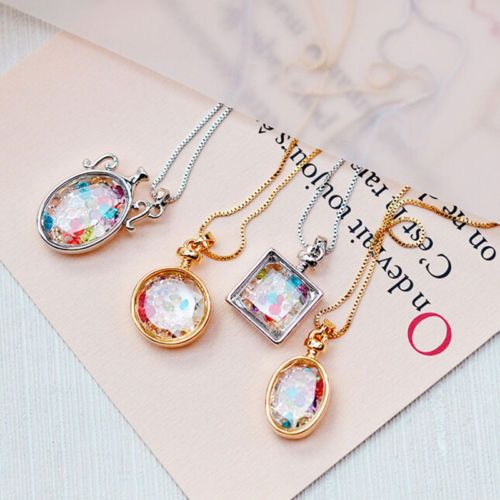 Beauty-Living-Memory-Floating-Glass-Round-Square-Locket-Charm-Pendant-Necklace