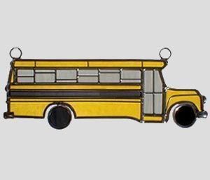 Stained Glass School Bus