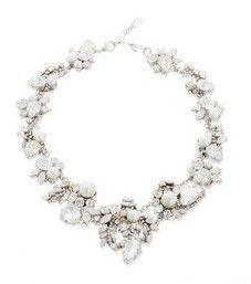 White Wedding Necklace By Erickson Beamon