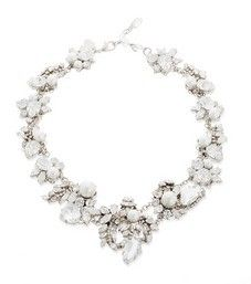 white wedding necklace by erickson beamon fab statement necklace to give your bridal ensemble an