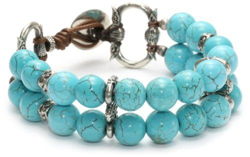 "Love Heals Carina, Turquoise Medium Turquoise Beads Bracelet Love Heals. $155.00. Made in United States. Items that are handmade and use natural stones, may vary in size, shape and color. 7.5"" bracelet: medium turquoise beads, white bronze beads, white bronze charms and white bronze button"