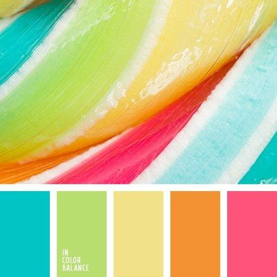 Tropical/ Citrus Color Scheme THE SAME COLOURS IN PASTEL