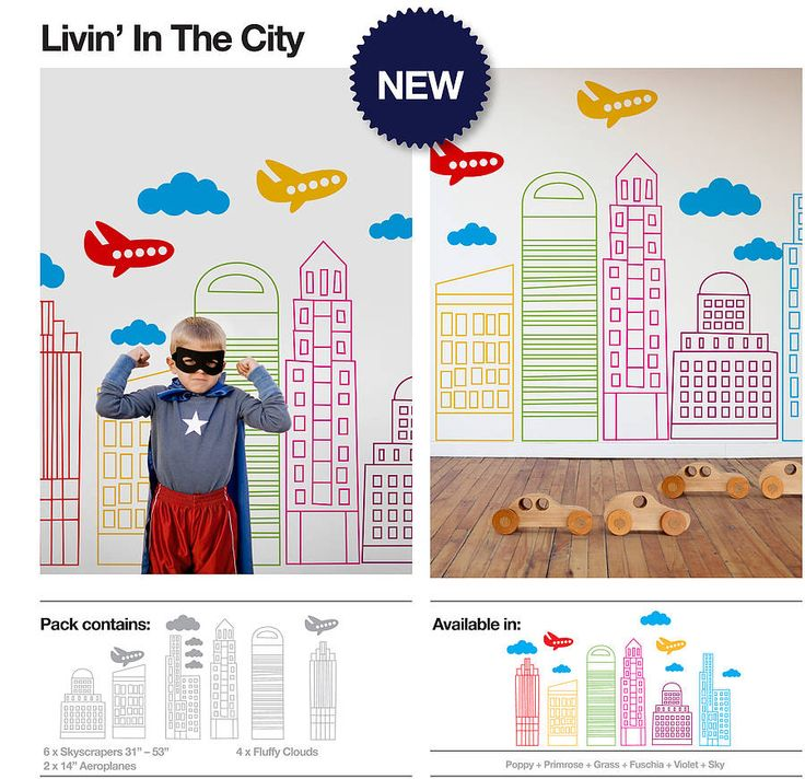 Livin In The City Wall Stickers
